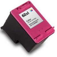 High CapacityTri-Color Inkjet Cartridge compatible with the HP 60XL/CC644WN