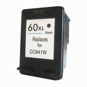 High Capacity Black Inkjet Cartridge compatible with the HP (HP 60XL) CC641WN